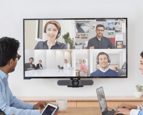 Immagine meeting tramite schermo
